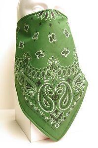 Windproof Fleece forest green lined bandana scarf Fierce Face Protection mask