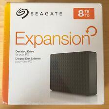 Seagate Expansion Desktop 8TB Externe Harde Schijf, zwart