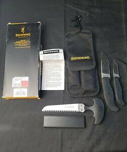 Browning 322 437 Hardcore Hunter 322437 Hard Core Black Knife Saw Set Game Kit