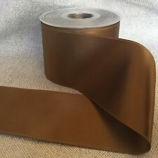"""2-3/4"""" Wide, Swiss Double Face, SATIN RIBBON- Color - Antique Gold"""