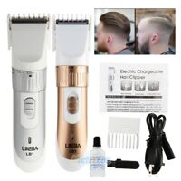 Rechargeable Men's Electric Shaver Razor Beard Hair Clipper Trimmer Grooming Kit