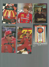 NASCAR, 1/4 MILE, MCDONALDS RACING OVER 75 CARDS