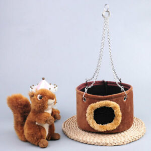Hanging Basket Hammock Hamster Squirrel Totoro Hanging Cage Bed Small Pet Nest