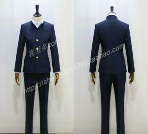 Conan Magic Kaito Cosplay Phantom Thief Kid Kaito Kuroba Uniform School Costume