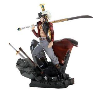 One Piece Anime Action-Figuren Dracula Mihawk PVC 17CM figur Modell WHM