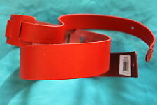 Perri's 2 inch Basic Leather Guitar Strap ,Red, by Perri's, PLS-P20RD