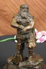 Handcrafted Heavy Armor Powerful Huscarl Viking Bronze Sculpture Chris Miles