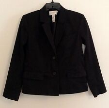 WOMENS LIZ CLAIBORNE 'LIZSPORT'  BLACK LONG SLEEVE JACKET BLAZER, SIZE 6