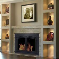 Pleasant Hearth Glass Fireplace Door Black Fieldcrest Large FC-5904 Mesh Screen