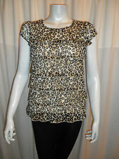 Animal Print Blouses Fitted Petite Tops & Shirts for Women