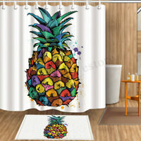 180*180cm Colorful Pineapple Polyester Bathroom Shower Curtain Waterproof Decor