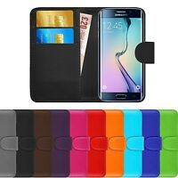 Premium Luxury Leather Flip Wallet Book Case Cover For Samsung Galaxy S6 Edge