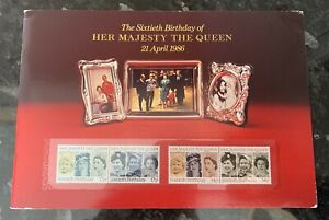 GB Sixtieth Birthday Queen Special Folder With U/M Stamps