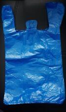 Lot 100 sacs plastique bleu bretelles 25x44 cm bleus sac plastique bleu