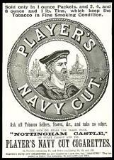 1896 Antique Print - ADVERTISING Players Navy Cut Nottingham Castle Tobacco (35)