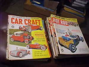 Lot of 28 Vintage 1961-1962 Issues Car Magazines Hot Rod, Car Craft + FREE ship