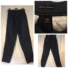 Nike Golf Dark Blue Trousers Size 30 100% Cotton New With Tags (983)