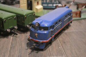 Vintage Russia Soviet USSR toy MOSKABEL PIONERSKAYA TRAIN RAILWAY RAILROAD model