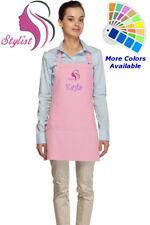 Personalized Hair Stylist Apron with Salon Embroidery Design Mom Gift