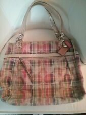 Coach Poppy 19611 Pastel Plaid Madras Tote