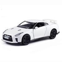 1:36 Nissan GTR R35 Model Car Diecast Toy Vehicle Pull Back Kids Gift White