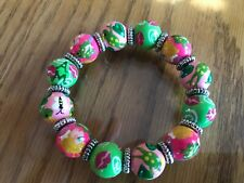 Angela Moore Princess and The Frog Fairy Tale Wood Beaded Bracelet Free Ship