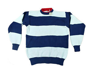VTG Men's EMS Eastern Mountain Sports Striped Sweater Large Blue-Red-White NWT