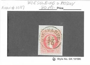 Austria 1867-71 rose 5 kr. used with Hungary. town cancel of WIESELBURG