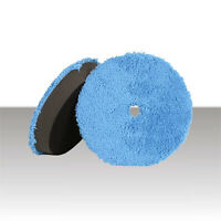 2PCS Microfiber Car Polishing Waxing Polisher Bonnet Buffing Pad Cover 5-10 R6Y7