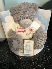 """Friends Always Me To You Bear The Grey Bear With The Blue Nose 5""""x6"""" Approx"""