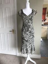 Gerard Darel Size 38 / UK 10 Dress Sun Summer Smart Wedding Races Black Cream