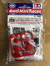 Tamiya 95401 1/32 Mini 4WD Lg Dia Stabilizer Head Set - 11mm/15mm (Red)