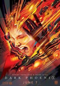 """Dark Phoenix 2019 X-Men Movie Film Poster Jean Grey Art Silk Print 24x36"""" 32x48"""""""