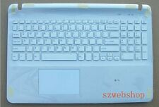 New SONY Vaio SVF153A1YL SVF1521E6E Palmrest US keyboard touchpad cover white