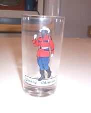 Small Clear Drinking Glass - Jersey Chevons