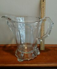"Eapg Clear Viking Bearded Man Pitcher 8"" tall. Footed. Queen Anne"