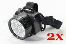 2 x Stirnlampe Stirnleuchte  5LED Kopfleuchte Helmleuchte Kopflampe NEU