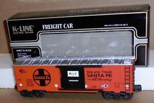"* K-Line Classic Trains .. KCC .. ""Santa Fe Steel Sided Reefer #90010"" NIB"
