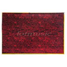 Guitarra Golpeador Material Blanco Placa Hoja para Bajo Partes 3 Capa Rojo Carey