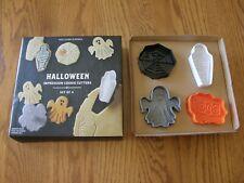Set 4:Williams Sonoma Halloween Cookie/Pie Crust Cutter/Stamp-Cupcake Topper-New