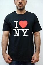 I love New York Classic Officially Licensed Product Black T SHIRT VINTAGE 90s L