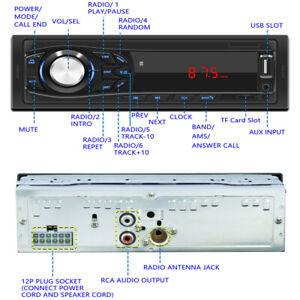 Car Bluetooth Hands-free Player MP3 Card U Disk FM Radio Card Reader Universal