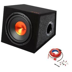 Edge 12in 900w MAX Active Subwoofer Sub Amplifier Bass Box Enclosure inc Amp Kit