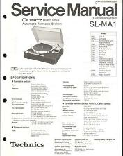 Technics Original Service Manual für SL-MA 1
