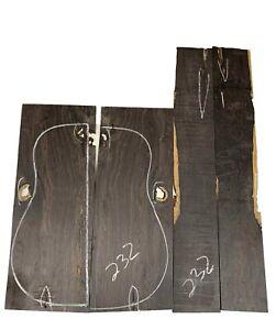 African BLACKWOOD Dreadnought Guitar Back & Side Set Luthier Tonewood #232
