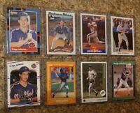 (8) Gregg Jefferies 1988 1989 Fleer Donruss Score Upper Rookie card lot RC Mets