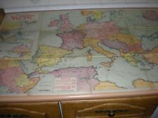 "A Rare Large News Chronicle All Fronts War Map - Measures Approx 35"" x 22 1/2"""