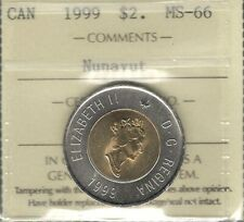 1999 NUNAVUT $2.00 ICCS MS-66 GEM+ BU ** STUNNING Two Dollars QEII Canada Toonie