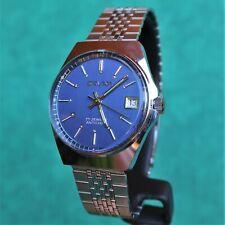 SAVAR Blue Vintage 1960s Watch FE 140-1C Reloj Montre Orologio Uhr France NOS