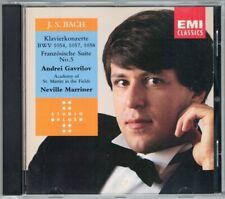 Andris GAVRILOV BACH Piano Concerto 1054 57 58 French Suite MARRINER CD Gawrilow